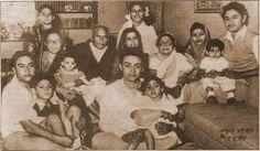 The Ganguly family with Ashok Kumar and Kishore Kumar  From Tumblr
