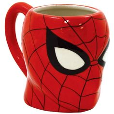 Icup Marvel Comics: Spiderman 16-oz. Mug (Red) ($17) ❤ liked on Polyvore featuring home, kitchen & dining, drinkware, red, ceramic mug, red mugs, red ceramic mug and wizard of oz mug
