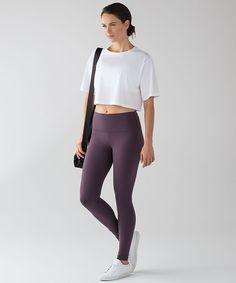 The Colour Edit: Black Currant. Wunder Under High Rise.