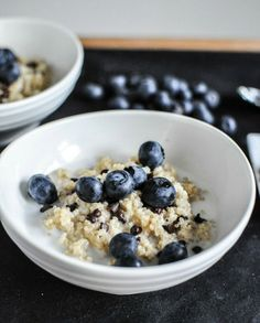 Chocolate Chip Blueberry Breakfast Quinoa