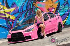 Evolution owners have some of the most amazing custom designs for their Evos, check out this Pink & Black Evo! www.mitsu.ca