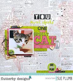 One Spoilt Cat | Flutterby Designs | Sue Plumb