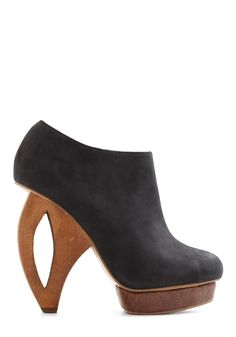 Pretty much the coolest shoes I've EVER seen. Ever.   Along the Cutting Edge Heel by Dolce Vita - Black, Solid, Party, Girls Night Out, Statement, Urban, High