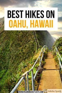 The hikes on Oahu are easily some of the most stunning in the world. From picture-perfect views to stunning waterfalls, Oahu's got it all. Hawaii Hikes, Hawaii Vacation, Hawaii Travel, Oahu Hawaii, Beach Travel, Usa Travel Guide, Travel Usa, Canada Travel, Photography