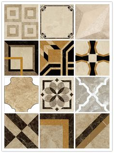 Italian waterjet beige stone polished marble pattern floor design