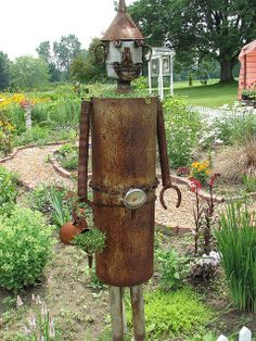 Tin Man - Found this tin man in a wonderful garden on M140 south of South Haven.
