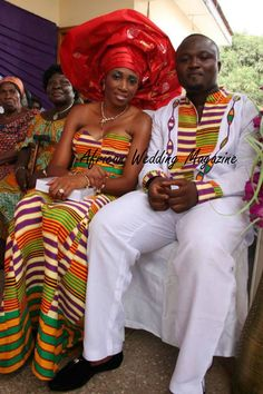 Traditional wedding of Ghana -so  beautiful ~African fashion, Ankara, kitenge, African women dresses, African prints, Braids, Nigerian wedding, Ghanaian fashion, African wedding ~DKK