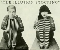 """Illusion Stockings for Fat Ankles and Thin Ankles The purpose of """"The Illusion Stocking"""" is to make the ankles look like what they """"ain't."""" On the left, Lilyan Tashman demonstrates the vertical. 20s Fashion, Fashion History, Vintage Fashion, Fashion Tips, Stocking Glamour, Louise Brooks, 1920s Flapper, Flappers 1920s, Roaring Twenties"""