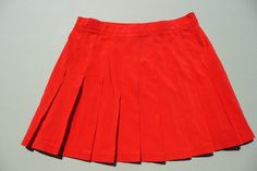 1980's Vintage Tail Red Pleated Tennis Golf Skirt ~ Mini Skirt ~ Size 10~ Perfect Condition, And Made In The USA