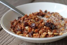 Finally! A cereal-substitute we like that reminds us of cereal!! The recipe I based this one off of is from Civilized Caveman and is found here. Thanks for the great recipe, Civilized Caveman! Raisin Nut Crunch Cereal Ingredients: 1/2 cup sunflower seeds 1/4 cup pumpkin...