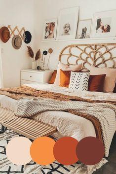 Fall Bedroom Decor, Room Ideas Bedroom, Home Decor, Bedroom Decor Natural, Neutral Bedroom Decor, Warm Bedroom, Bedroom Themes, Bedroom Colors, Aesthetic Room Decor