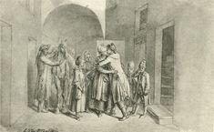 Chodowiecki, Der Abschied (Danziger Skizzen, 1773).