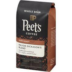 Advertisement - Peet's Coffee® Major Dickason's Blend® Dark Roast Whole Bean Coffee 12 oz. Fresh Ground Coffee, Fresh Coffee, Coffee Love, Fine Beans, Coffee Varieties, Espresso Shot, Coffee Brewer, Coffee Cup, Coffee Crafts