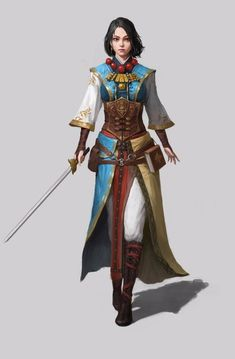 f Wizard Bard multi-class Light Armor Cloak Necklace Rapier Magic Book female Traveler lg Fantasy Character Design, Character Design Inspiration, Character Concept, Character Art, Character Ideas, Concept Art, Fantasy Rpg, Medieval Fantasy, Dark Fantasy