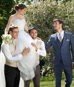 Eleganter Hochzeitsanzug in Blau von WILVORST - After Six Kollektion - Jetzt nachsehen bei weddix.de