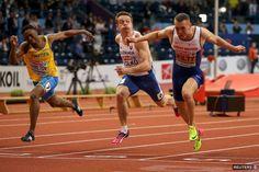 Ján Volko (v strede) získava striebornú medailu na halových ME v Belehrade. My Hero, Sweden, Britain, Sports, Hs Sports, Sport