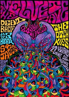 Psychedelic art is any art inspired by psychedelic experiences induced by substances such as LSD, mescaline, psilocybin, and dimethyltryptamine.