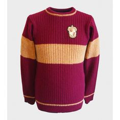 Gryffindor Quidditch Sweater ($110) ❤ liked on Polyvore featuring tops, sweaters, harry potter, gryffindor, jackets, purple sweater and purple top