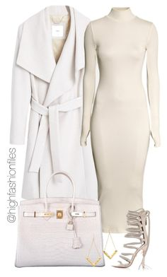 """""""Untitled #2015"""" by highfashionfiles ❤ liked on Polyvore featuring MANGO, H&M, Hermès and Gorjana"""