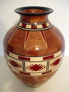 'Indian Blanket' Design Tall Vase
