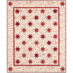 Robert Kaufman Fabrics Toile Stars Quilt Kit featuring Betsy's Baskets by Darlene Zimmerman