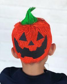 Crazy hair day for boys! Pumpkin hair