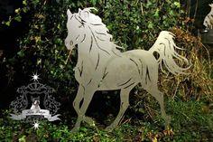 Edelstahl gartenaufsteller Pferd