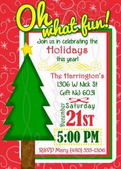 Holiday Party Invitation / Christmas Party Invitation