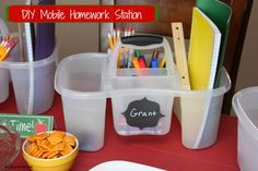How To Create A Mobile Homework Station -musthavemom.com