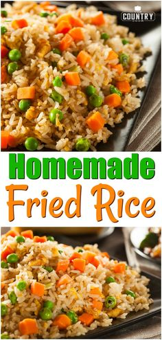 Homemade Fried Rice recipe from The Country Cook #rice #friedrice #easy #homemade #recipe #idea