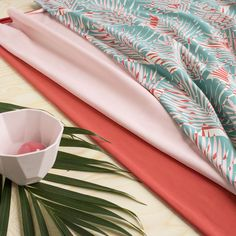 LUMO, sinivihreä - vaaleanpunainen | NOSH verkkokauppa  | Get inspired by new NOSH fabrics for Spring 2017! Discover new colors, prints and quality organic cotton. Shop new fabrics at en.nosh.fi