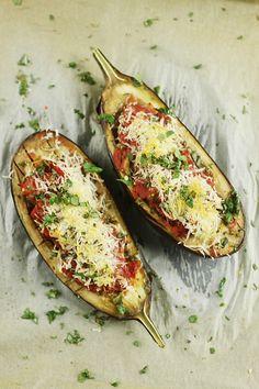 Faszerowany bakłażan/Stuffed eggplant