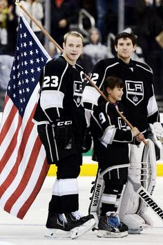 Dustin Brown and Jonathan Quick, NHL Los Angeles Kings