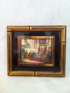 Antique Chinese hand colored framed engraving by Comforte on Etsy, $45.00