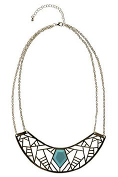 Ali Stone Cut Out Collar Necklace at boohoo.com    8