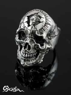 Scull ring Senju(/ silver accessories / シルバーアクセ / silver / silver 925/Silver925/ silver / 1,000 moves / Kannon-with-One-Thousand-Arms / ring / ring / men / unisex / scull / skeleton / skeleton / vegetables with dressing / deliverance / Senju)