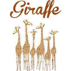 Giraffe -6頭のキリン- /動物・ZOO・アニマル・ロゴ・ペット・絵 ...