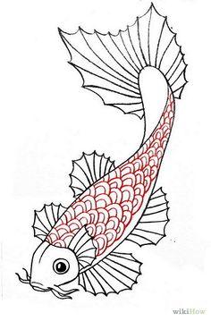 dibujo de pez coi - Buscar con Google