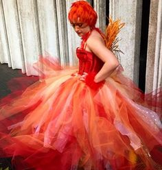 This is gorgeous, could even do the same for other birds but she is the best:Fawkes | 31 Alternative Harry Potter Halloween Costume Ideas