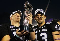 Dream team! Can it get any better than this?!  Rosebowl '11 Winners TCU