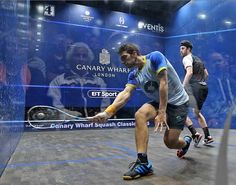 Keeping enough space between yourself and the ball is fundamental to hitting the ball consistently.   You want to get into a position where your shoulder, elbow and wrist are all inline at the point of impact.   #squash #SquashSkills #Salming #TeamSalming #psa #psaworldtour