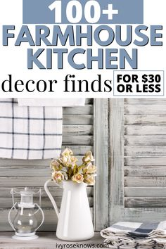 If you are looking for some farmhouse kitchen decor on a budget, here are some of the absolute BEST affordable farmhouse kitchen decor finds all for $30 or LESS! So many steals!! Amazon farmhouse for the win! #homedecor #farmhousekitchen #farmhousedecor #farmhouse #rusticdecor #rustickitchen