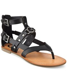 G by Guess Women's Hartin Flat Gladiator Sandals