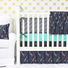Enter to win a 2-pc crib bedding set from @cadenlane! #gievaway