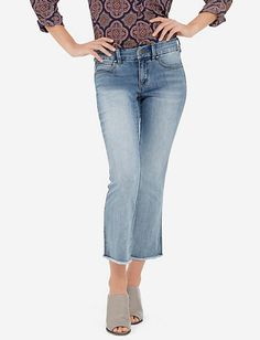 Cropped Ankle Flare Jeans