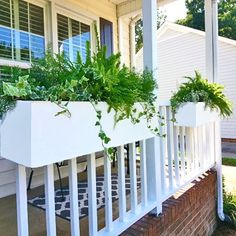 Beautiful deck rail planters hang over your railings, balconies, and fences.  These 24' deck rail planters last a lifetime and are paintable.