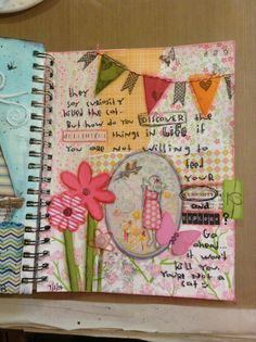 Mixed media art journal project #29