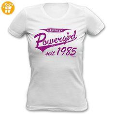 Sexy Damen T-Shirt exklusiv zum Geburtstag - German Powergirl seit 1985 - Ein cooles Geschenk für Powerfrauen! (*Partner-Link)
