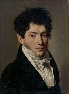 Louis-Léopold BOILLY (1761-1845)  Portrait de Charles Louis Havas Toile et châssis d'origine. Dans son cadre d'origine en chêne mouluré et stucs dorés à palmettes d'époque Empire. Haut. 22 - Larg. 16,5 cm Charles Louis Havas fut le fondateur de l'agence Havas en 1835 à l'âge de 52 ans. Ancien négociant international puis banquier, devenu journaliste et traducteur, il invente le concept d'agence de presse mondiale et généraliste