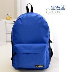 e2f373a76d Fashion Solid Color Nylon Women Man School Bag Backpack For Teenage Women  Man Bags Escolar Mochila